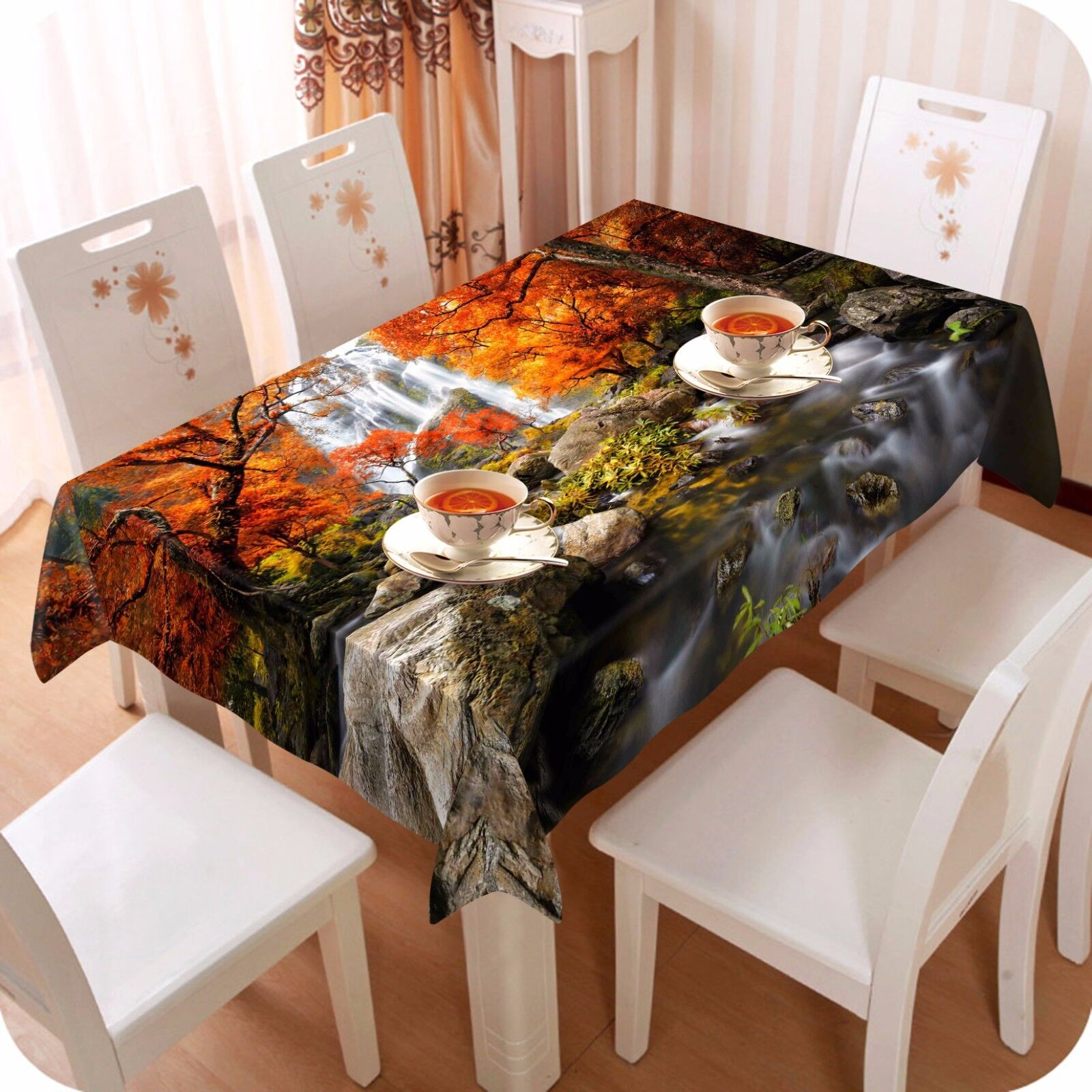 3D Forest 59 Tablecloth Table Cover Cloth Birthday Party AJ WALLPAPER UK Lemon