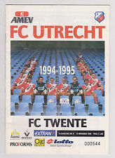 Programme / Programma FC Utrecht v FC Twente Enschede 03-11-1994