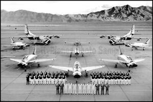 USAF-Thunderbirds-F-100-Super-Sabre-C-123-Nellis-1957-58-8x12-Aircraft-Photos