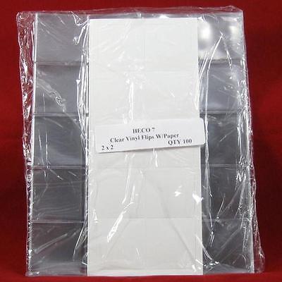 "500 BCW Brand 1 7//8/"" x 1 7//8/"" Double Pocket Vinyl Coin Flips Storage Holders"
