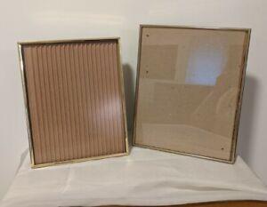 Vintage Brass Picture Photo Frames  Easel Gold Matte Inside Free Standing Lot 2