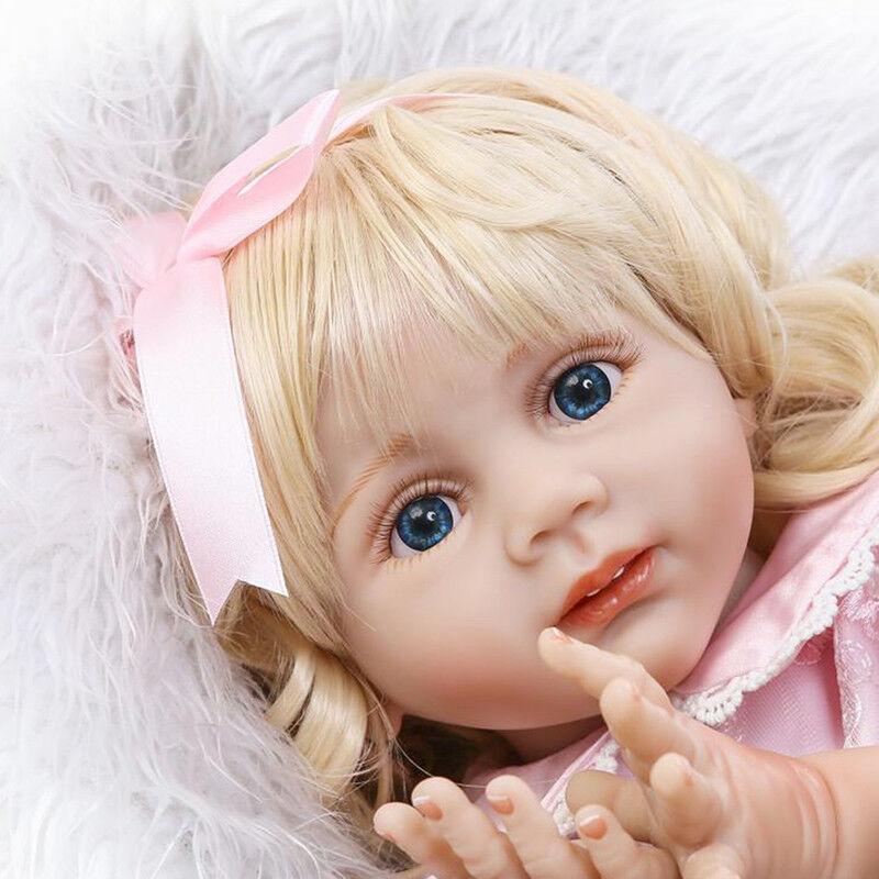 24  morbido silicone RINATO Baby Doll Principessa Bambino Baby doll ragazza regalo giocattolo GV