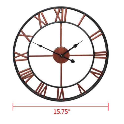 "23/"" Large Outdoor Garden Wall Clock Antique Roman Numeral Round Open Face 16/"""