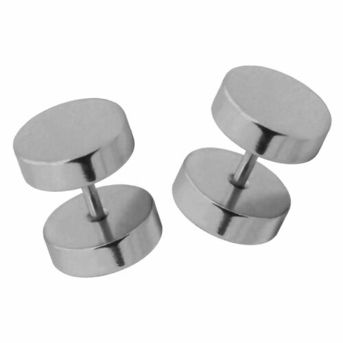 6-18 mm Stainless Steel Earstuds Cheater Fake Plugs Flesh Tunnel Piercing
