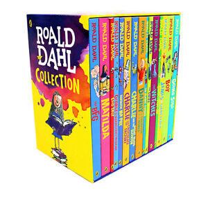 Roald-Dahl-Collection-15-Books-Box-Set-Going-Solo-Matilda-Witches-Twits-NEW