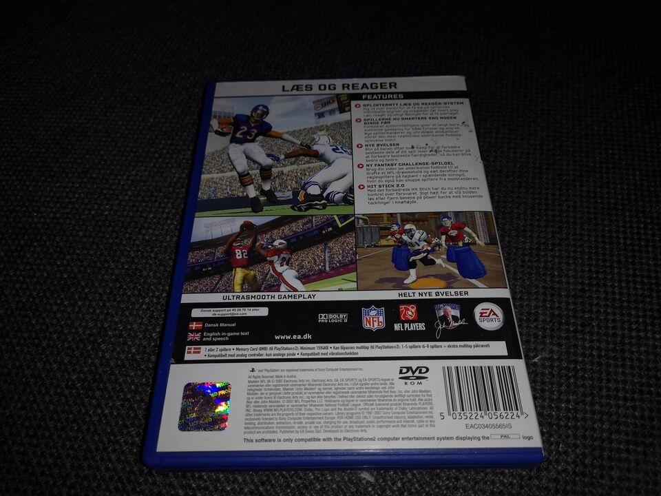 Madden NFL 08, PS2, sport