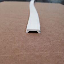 "3/4"" x 25 ft WHITE Insert Trim Molding Flexible Screw Cover - RV Boat Camper"