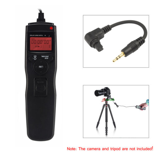 Cable Disparador Temporizador Remoto extraíble para Canon 40D 50D 1D 5D Mark II 6D 7D III IV