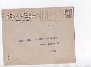 ITALY 1943 10C DELIVERY AUTHORIZED ISOLATED ON COVER TO TORINO. - Italia - ITALY 1943 10C DELIVERY AUTHORIZED ISOLATED ON COVER TO TORINO. - Italia