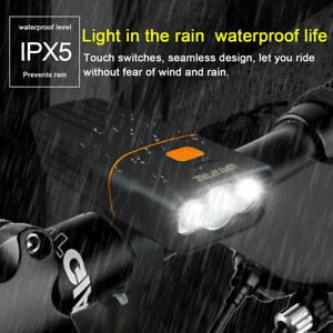 IPX5 Rechargeable Road Bike T6 LED Headlight Front Lamp 5000LM Bicycle Headlight