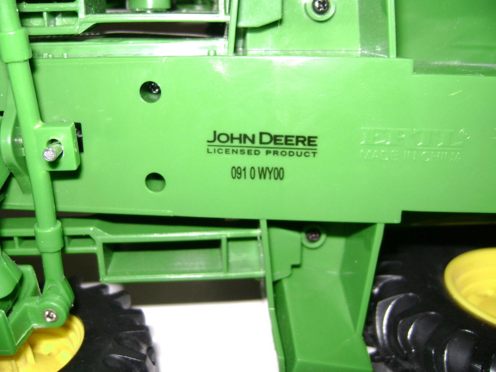 JOHM DEERE ERTL ERTL ERTL TRACTOR 8  x 11  W removable FRONT LOADER 8  x 16  da812b