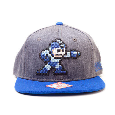 OFFICIAL 8-BIT MEGAMAN (ALSO KNOWN AS ROCKMAN) SNAPBACK CAP HAT (BRAND NEW)