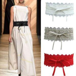 womens lace waist belt soft wide band cinch corset belt