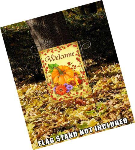 Details about  /Wamika Pumpkin Sunflower Autumn Welcome Fall Double Sided Garden Yard Flag 12...