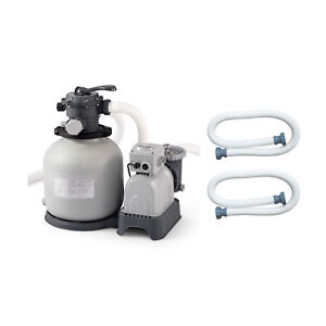 Intex-Krystal-Clear-Swimming-Pool-Sand-Filter-Pump-amp-Replacement-Hose-2-Pack