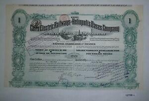 100% Wahr 250 Franc Aktie Cairo Electric Railways & Heliopolis Oases Company 1906 (127788) Neueste Technik