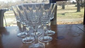 Claret Wine Glasses Barcelona by CRISTAL D'ARQUES-DURAND 6 6 oz elegant stems