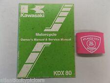 KAWASAKI OWNERS KDX80 MANUAL & SERVICE MANUAL COPYRIGHT 1982 99920-1217-01