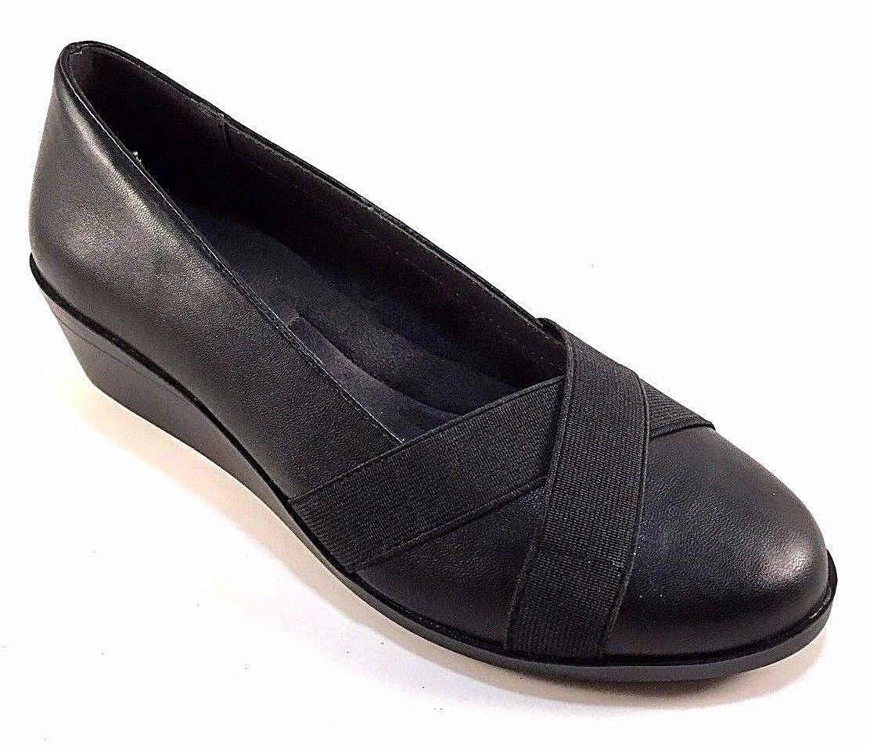 Aerosoles Truce Truce Truce Black Round Toe Low Wedge shoes fe46a0