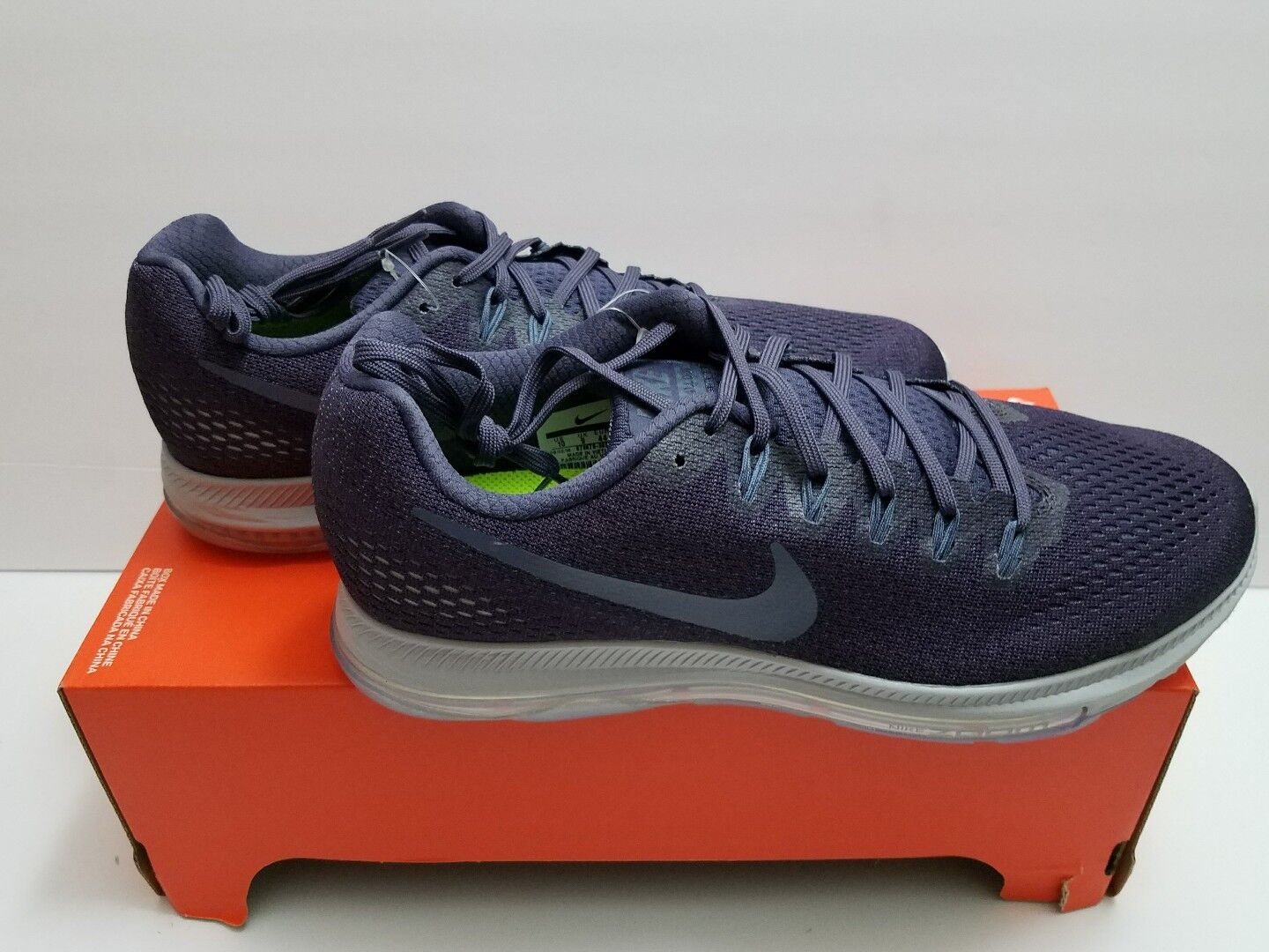 Nike Zoom Purple All Out Mens Running Shoes 10 Grand Purple Zoom Pure Platinum 878670 500 a6644d