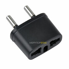 US/UK/CA to EU/Brazil/Brasil/RU Universal Travel Power Socket Plug Adapter