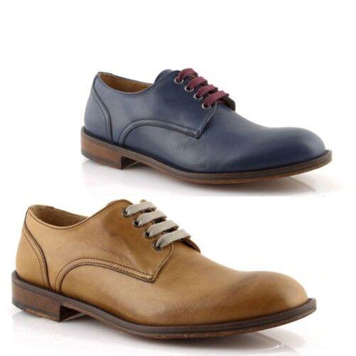 Schuhe melone herren leder blau elegant klassische made in italy