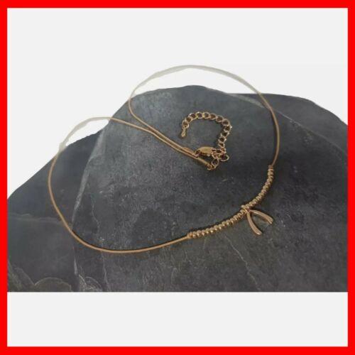 Wish Bone Beaded Choker Necklace