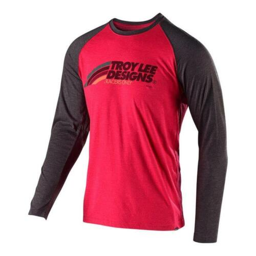 Troy Lee Designs 2019 Velo Long Sleeve T-Shirt Red//Charcoal All Mens Sizes