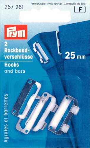 Prym rock federal cierres de plata de colores 25mm prym botones pantalones coser 267261