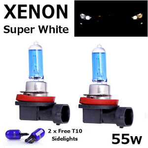 H11-55w-SUPER-WHITE-XENON-711-UPGRADE-Headlight-Bulbs-12v-T10-W5W-sidelights-A