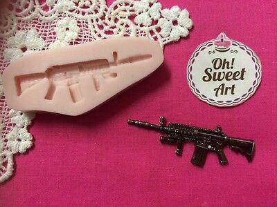 Shotgun gun Silicone Mold Food clay Cake  wax decoration soap cupcake topper FDA