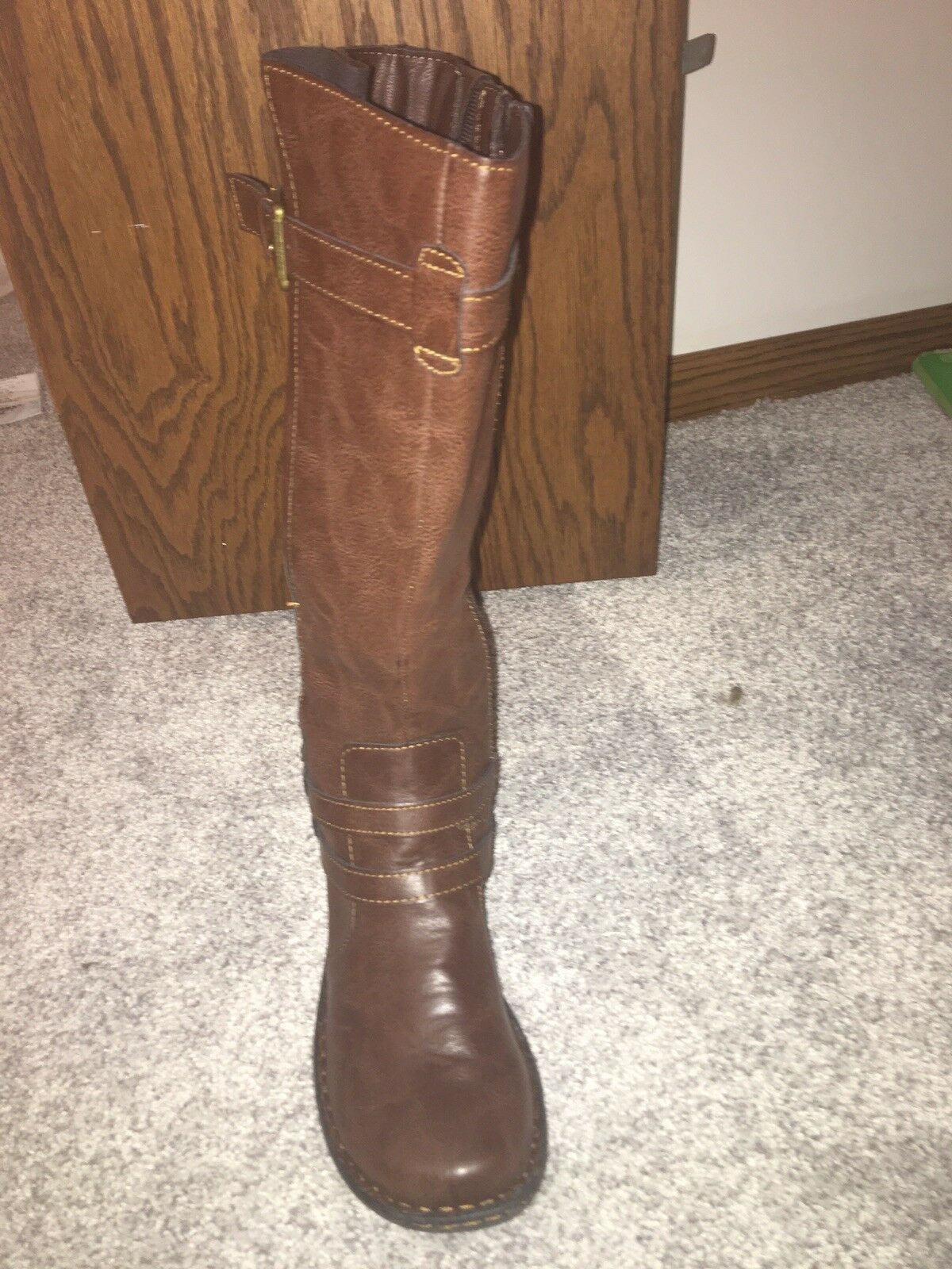 Brown leather boots 7.5 women