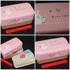 "Japanese HAKOYA BENTO BOX TWO-TIER + BOND "" USAGI "" #51269"