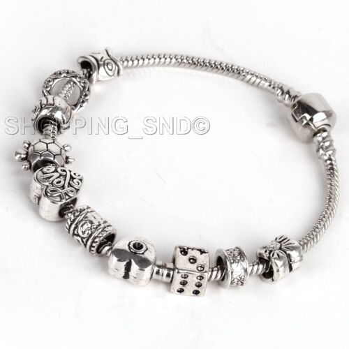 Lot MIX Tibetan Silver Rondelle Spacer Beads Fit European Charms Bracelet Murano