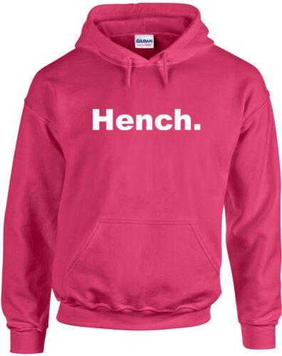 Gym inspired Printed Hoodie Men Women Jumper Top Long Sleeve Pullover Hench