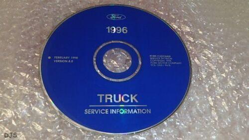 OEM 1996 FORD ALL TRUCK MODELS F150-350 SERVICE MANUAL ON CD CV