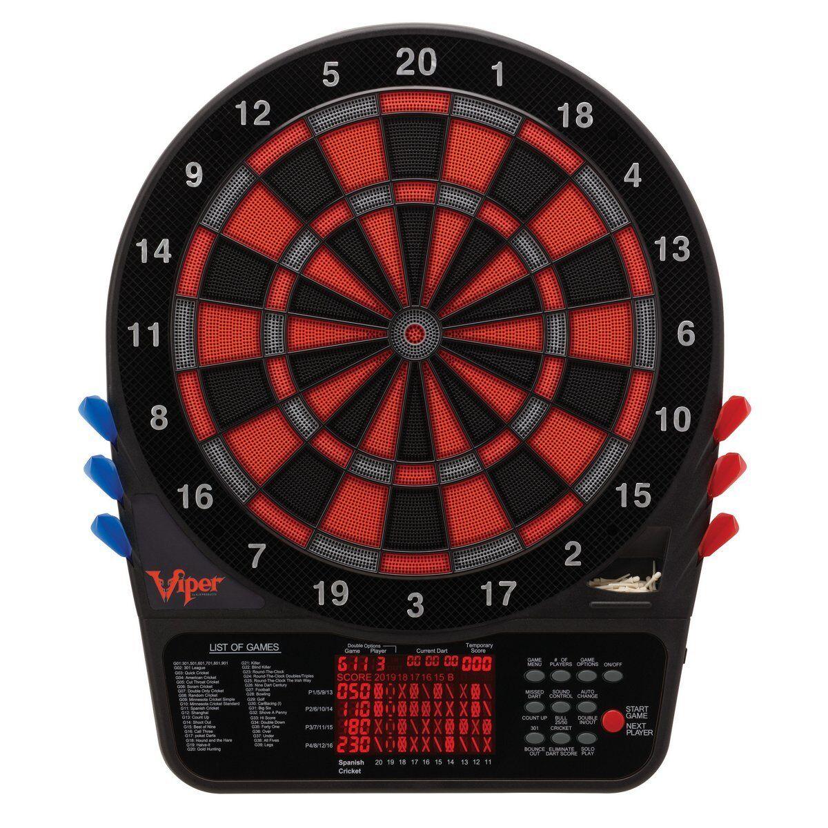 Viper 800 Electronic Soft Tip Dartboard, Item 42-1034, NEW, Open Box