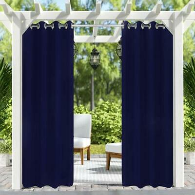 2pack Outdoor Patio Curtains Waterproof
