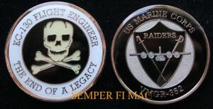 VMGR-352-RAIDERS-FLIGHT-ENGINEER-US-MARINES-CHALLENGE-COIN-PIN-UP-C130-MR-C-VMGR