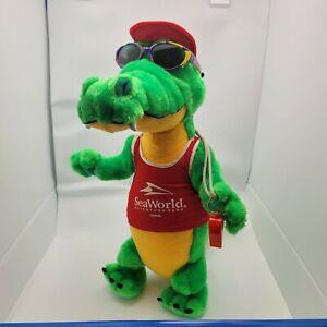 "VTG Seaworld Life Guard Alligator Nanco Plush Stuffed Animal 18"""