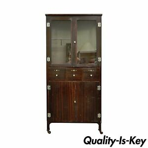 Antique Steel Metal Dental Cabinet Bathroom Storage Display ...