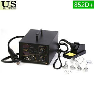 852D-2in1-Soldering-Rework-Station-Iron-amp-Hot-Air-Gun-SMD-Welder-Tool-5Tips-URT