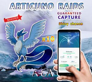 [100% LEGIT SECURE SPOOF] PokemonGo Articuno BOOSTED Raid-Guaranteed Capture x10