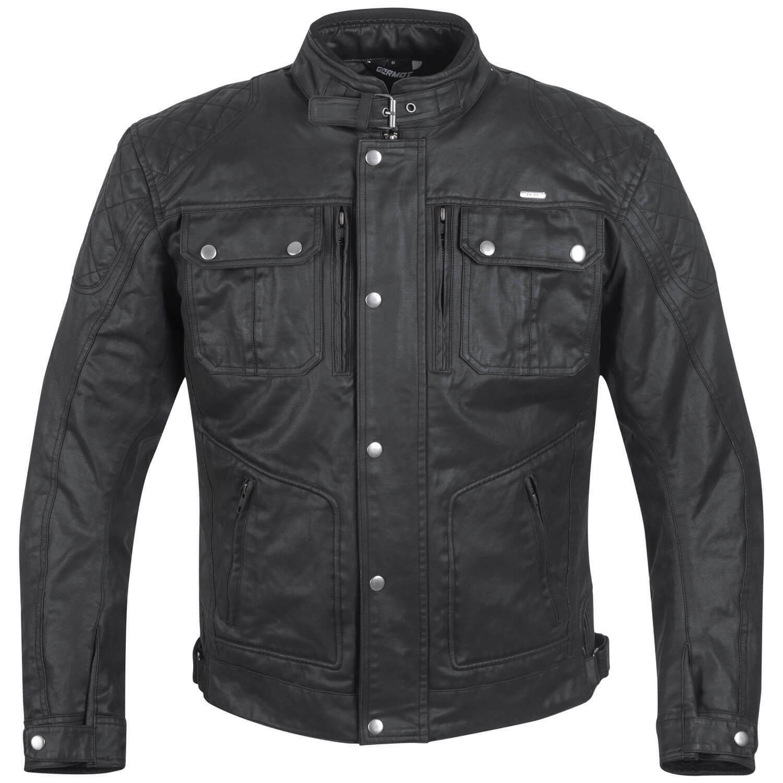 GERMOT Rider hombre chaqueta textil de Motocicleta wachsblouson - Negro