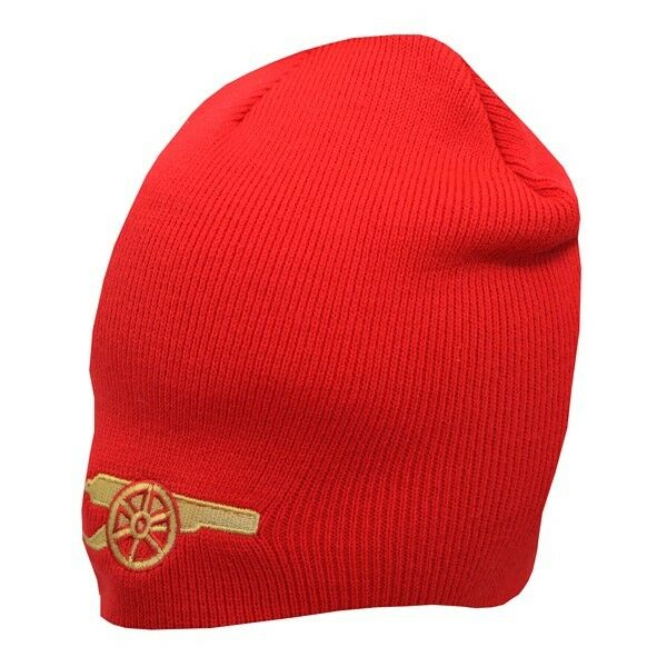 Official Arsenal F.c Knitted Gunner Beanie Winter Hat Red Ideal Gift for  Fan for sale online  91faf46ed