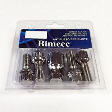 Bimecc Black Locking Wheel Bolts M12 x 1.5 Vauxhall Astra G 98-04