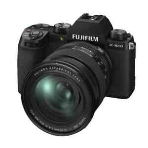 Fujifilm X-S10 26.1MP Mirrorless Camera - Black (XF 16-80mm f/4 R OIS WR)