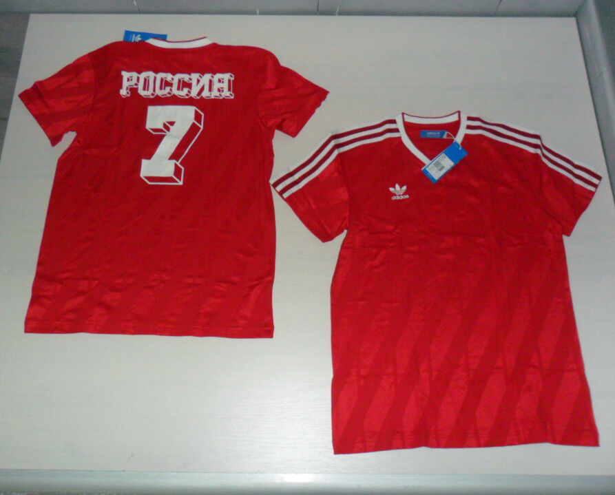 FW14 10458 SIZE S ADIDAS RUSSIA T-SHIRT STORICA VINTAGE SHIRT JERSEY