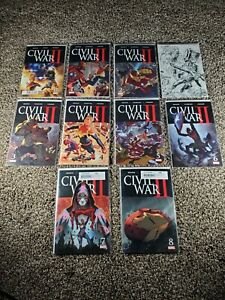 Civil-War-II-0-8-complete-series-set-2016-Marvel-Includes-3-sketch-variant