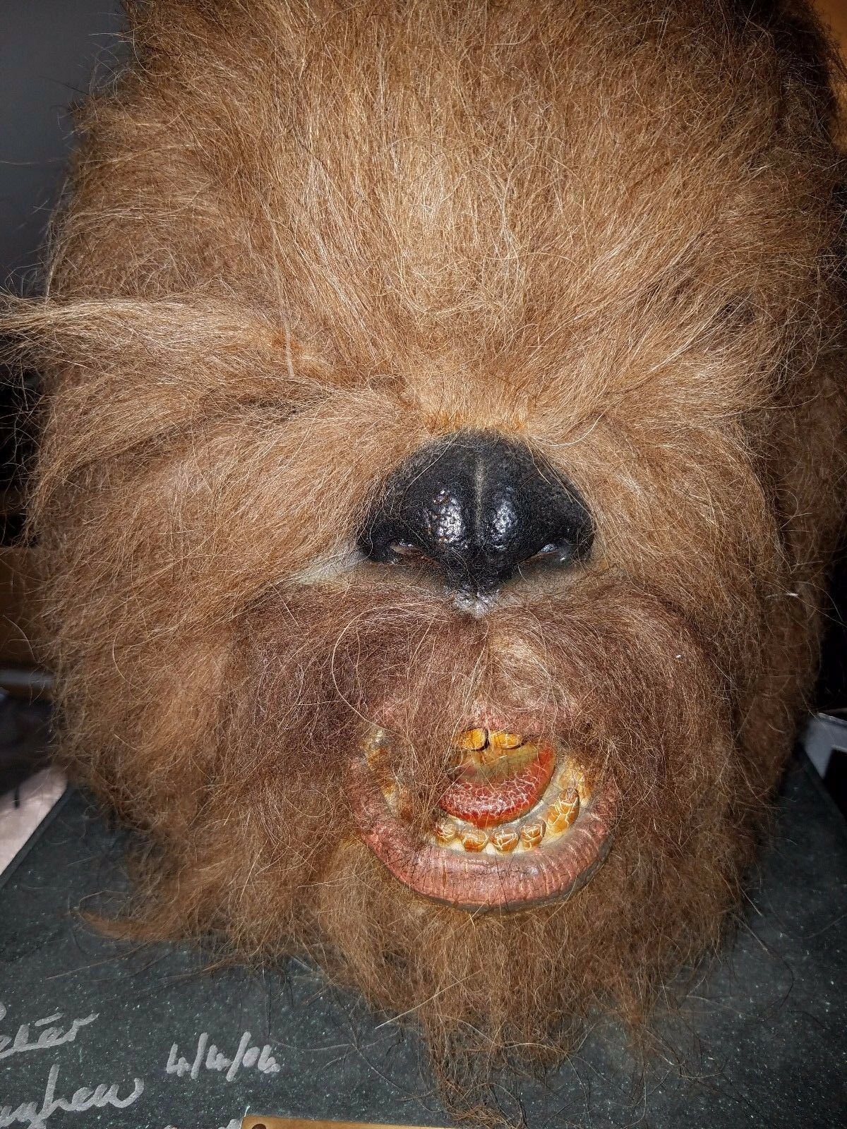 STAR WARS Chewbacca Head  Mask  Bust 1996 Illusive Originals 773 of 7500 SIGNED